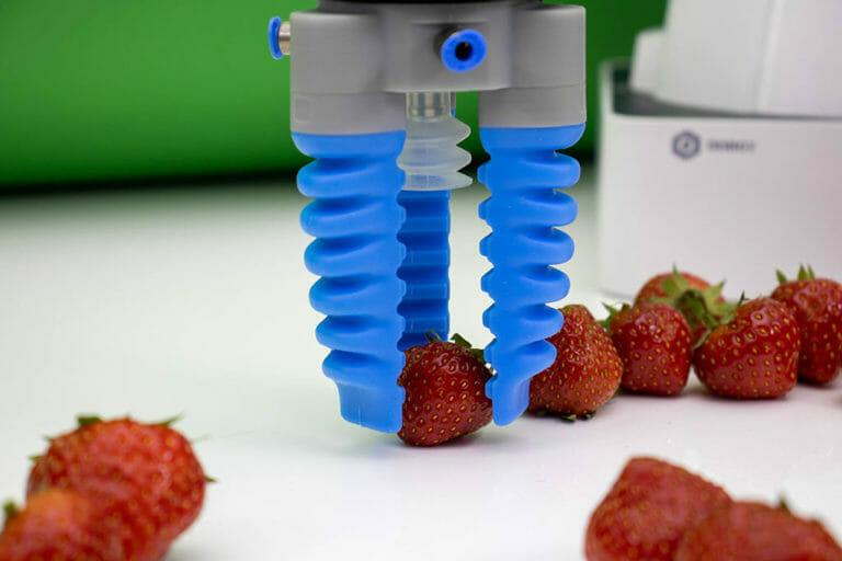 Cobot Soft Gripper para fresas