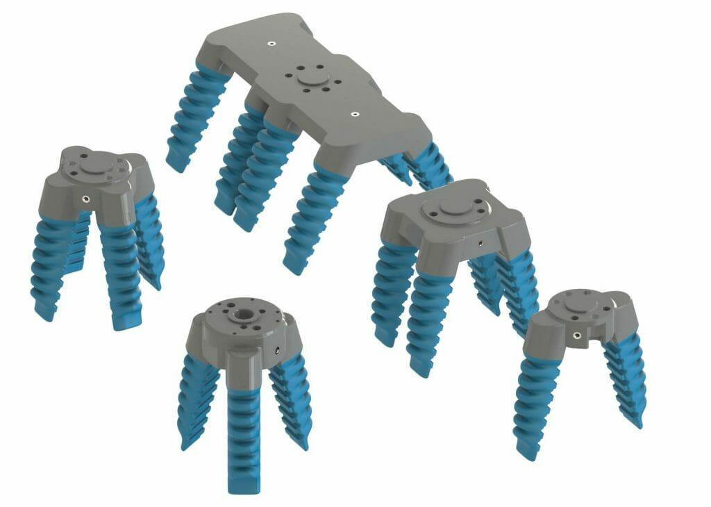 Todos nuestros softgrippers céntricos y paralelos