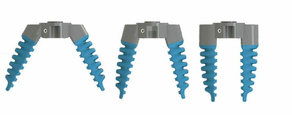 Varios ángulos de agarre suave robótico cobot