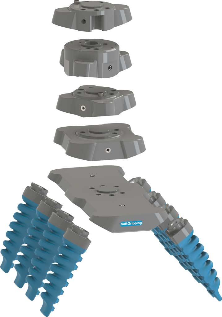 Varios conectores de base para pinzas blandas