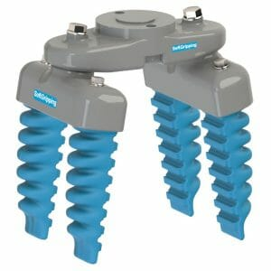 Hygienic gripper for unpacked producs