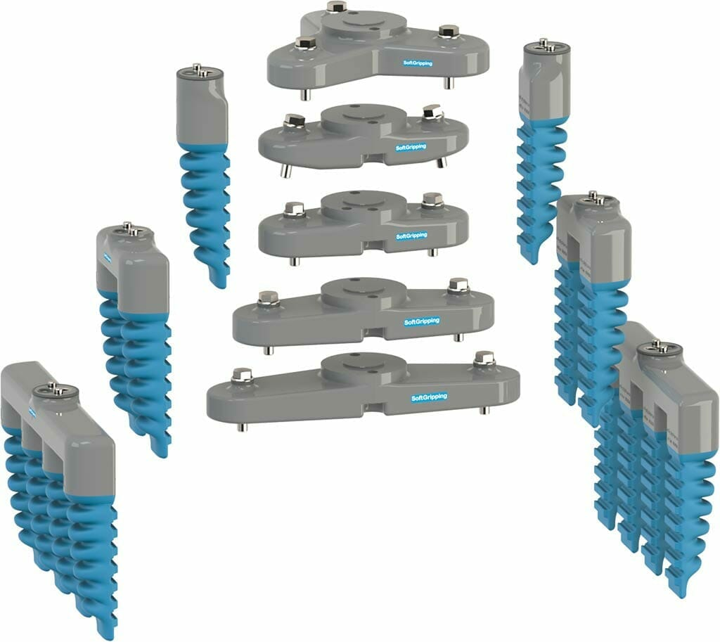 All elements of our industrial soft gripper bases and finger modules